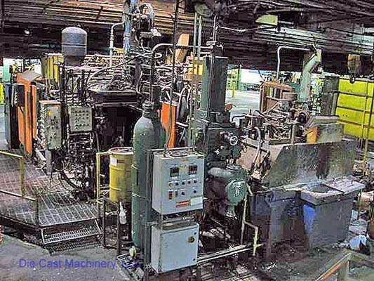 Picture of Toshiba DC 800 C Horizontal Cold Chamber Aluminum High Pressure Die Casting Machine For Sale DCMP-1548