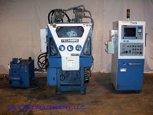 Picture of Techmire 24NTX Multi-slide Hot Chamber Miniature Zinc (Zamak) High Pressure Die Casting Machine For_Sale DCMP-2173