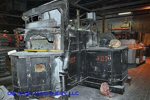 1000 pound per hour Reverberatory Aluminum Melting and Holding Furnace DCM 2892