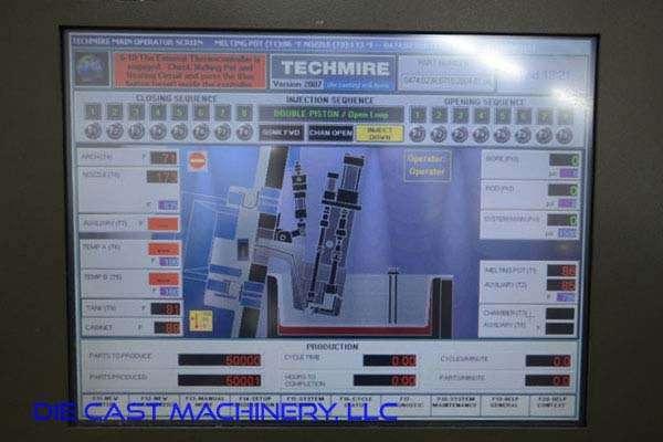 Picture of Techmire 66NT (6x6) Multi-slide Hot Chamber Miniature Zinc (Zamak) High Pressure Die Casting Machine For_Sale DCMP-3092