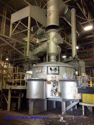Picture of Modern Equipment Company MJM AL-8000 Stack (tower/shaft) Type Stationary Aluminum Melting and Holding Furnace For_Sale DCMP-3099