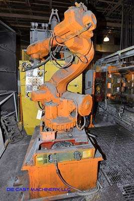 Picture of ABB IRB 6600 Six Axis Foundry Rated Industrial Robot with Extractor Package/Gripper for Extracting Die Castings For_Sale DCMP-3169