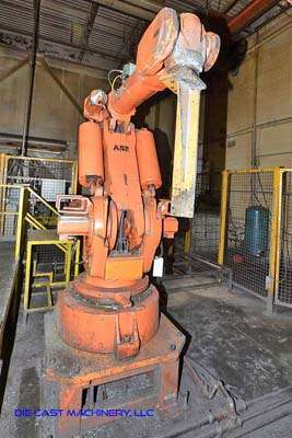 Picture of ABB IRB 6400 Six Axis Foundry Rated Industrial Robot with Extractor Package/Gripper for Extracting Die Castings For_Sale DCMP-3195