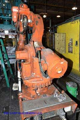 Picture of ABB IRB 6600 Six Axis Foundry Rated Industrial Robot with Extractor Package/Gripper for Extracting Die Castings For_Sale DCMP-3200