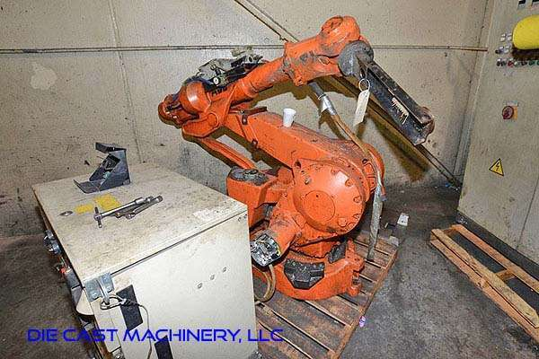 Picture of ABB IRB 4400 KT Six Axis Foundry Rated Industrial Robot with Extractor Package/Gripper for Extracting Die Castings For_Sale DCMP-3234