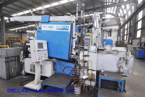 Picture of Frech DAW 200 F RC Horizontal Hot Chamber Zinc (Zamak) High Pressure Die Casting Machine For_Sale DCMP-3290