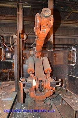 Picture of ABB IRB 6400 Six Axis Foundry Rated Industrial Robot with Extractor Package/Gripper for Extracting Die Castings For_Sale DCMP-3360