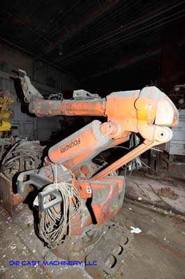 Picture of ABB IRB 6400 Six Axis Foundry Rated Industrial Robot with Extractor Package/Gripper for Extracting Die Castings For_Sale DCMP-3433