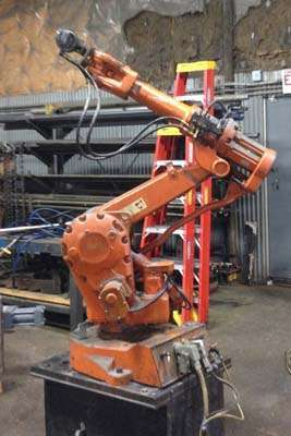 Picture of ABB IRB 2400 F/16 Six Axis Foundry Rated Industrial Robot with Extractor Package/Gripper for Extracting Die Castings For_Sale DCMP-3651