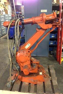 Picture of ABB IRB 2400L Six Axis Foundry Rated Industrial Robot with Extractor Package/Gripper for Extracting Die Castings For_Sale DCMP-3652