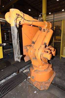 Picture of ABB IRB 6400 M94A-2.4-120 Six Axis Industrial Robot with Extractor Package/Gripper For Extracting Die Castings For_Sale DCMP-3718