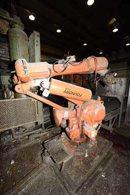 Picture of ABB IRB 6400 Six Axis Industrial Robot with Extractor Package/Gripper For Extracting Die Castings For_Sale DCMP-3859