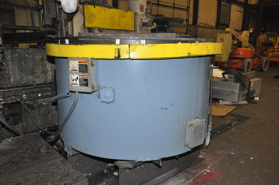 Picture of Dynarad EC-1500 Electric Heated Silicon Carbide Crucible Type Aluminum Melting & Holding Furnace For Sale DCMP-4269