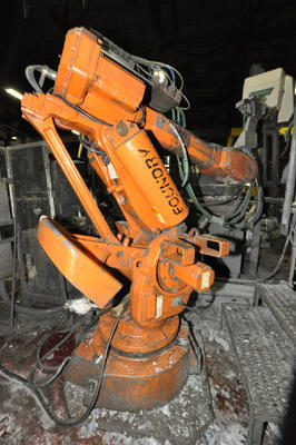 Picture of ABB IRB 6400 Six Axis Foundry Rated Industrial Robot with Extractor Package/Gripper for Extracting Die Castings For_Sale DCMP-4479