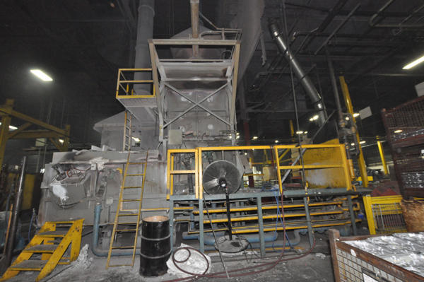 Picture of Modern Equipment AL-5000 Jet Melter Stack (tower/shaft) Type Stationary Aluminum Melting and Holding Furnace For_Sale DCMP-4553